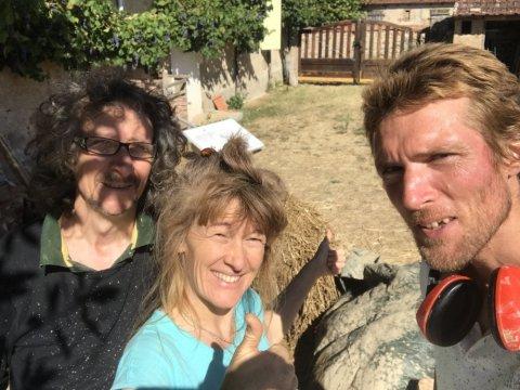 premier chantier participatif septembre 2019 avec Josselin