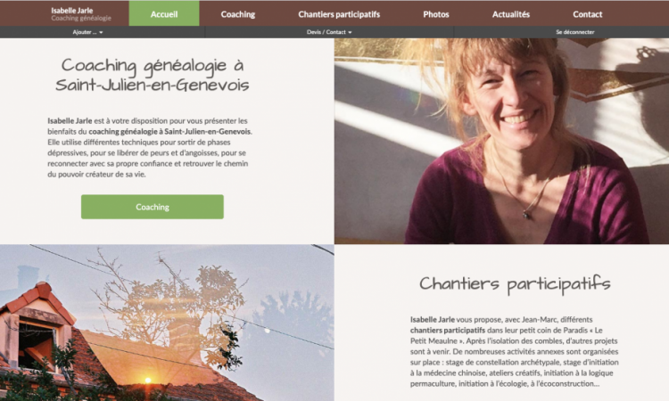 site Isabelle Jarle