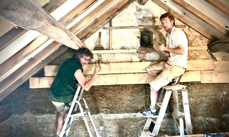 Josselin et Jean-Marc remplissent les banches